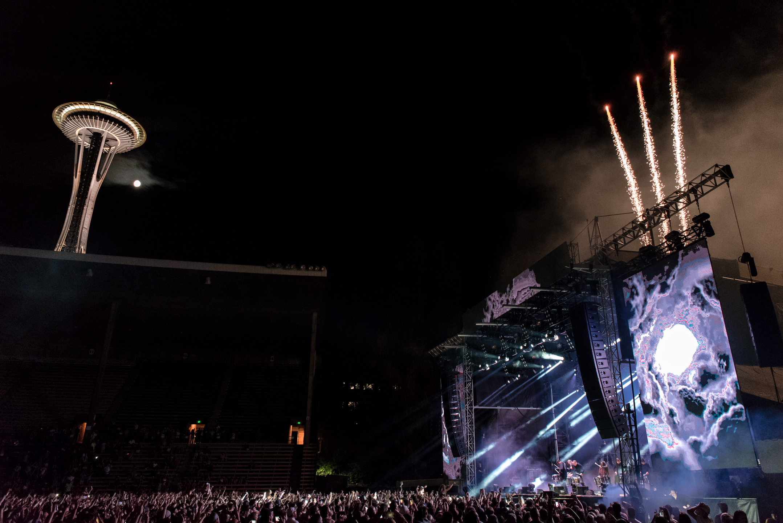 ODESZA closing at Bumbershoot Music Festival at Seattle Center Washington 2017