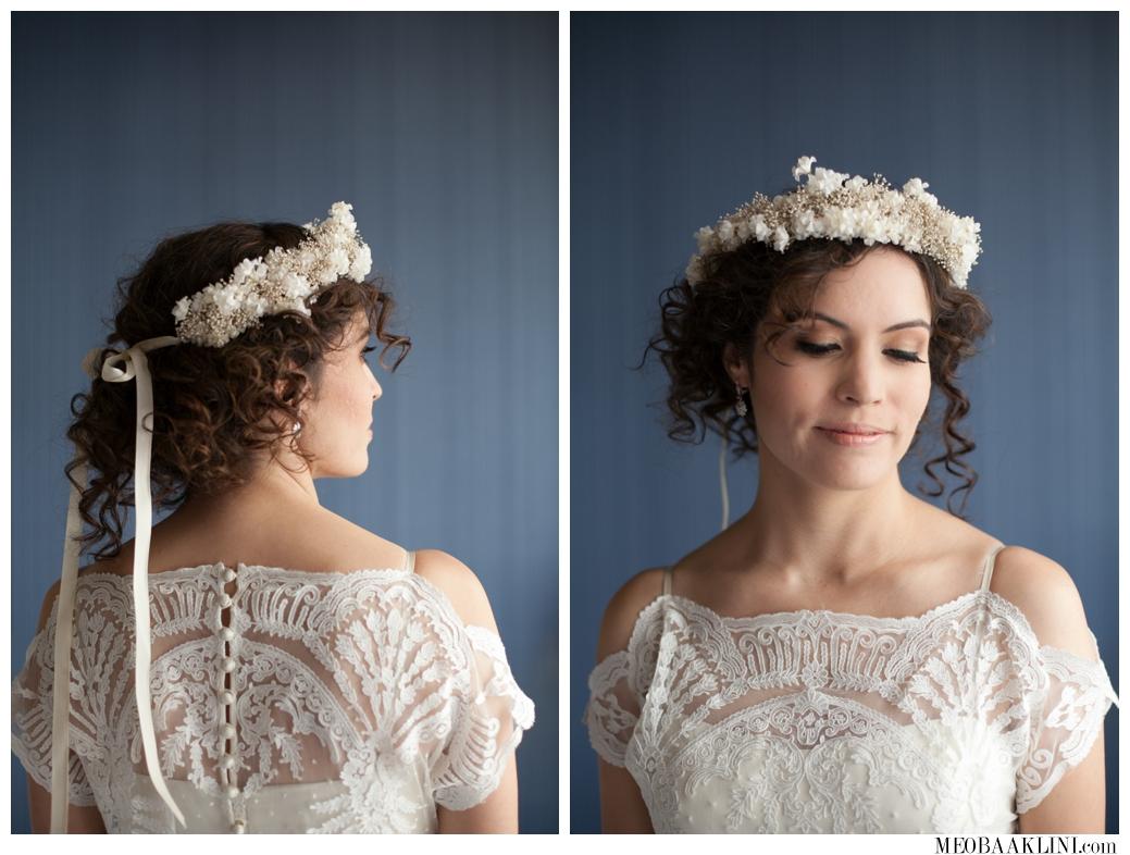 BHLDN, Floral Crown, Bridal Hair and Makeup