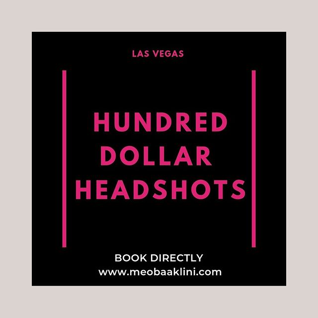 📷 You + Me, 15 minute quickie, one day a month, office or cafe in Vegas, headshots for social media content, 1-2 business day turnaround. $100.📷 . . Boom. That's it. . . 📱TO BOOK: click the link in my bio (literally posted screenshots of where to click and what to do) or visit me at Meobaaklini.com/hundred-dollar-headshots. . 📆 Pick your September and/or October time slots. . 💸Pay the invoice. . 💃🏼Confirm location and outfits. . 🎁First person to book for September, gets October's session fee waived! . ❤️ If you love my work and want to help spread the message, you know what to do! . .  #vegasheadshots #vegasphotography #vegasphotographer #vegas #clarkcounty #vegasbusinessowner #vegaswedding #supportsmallbusiness #vegaslocals