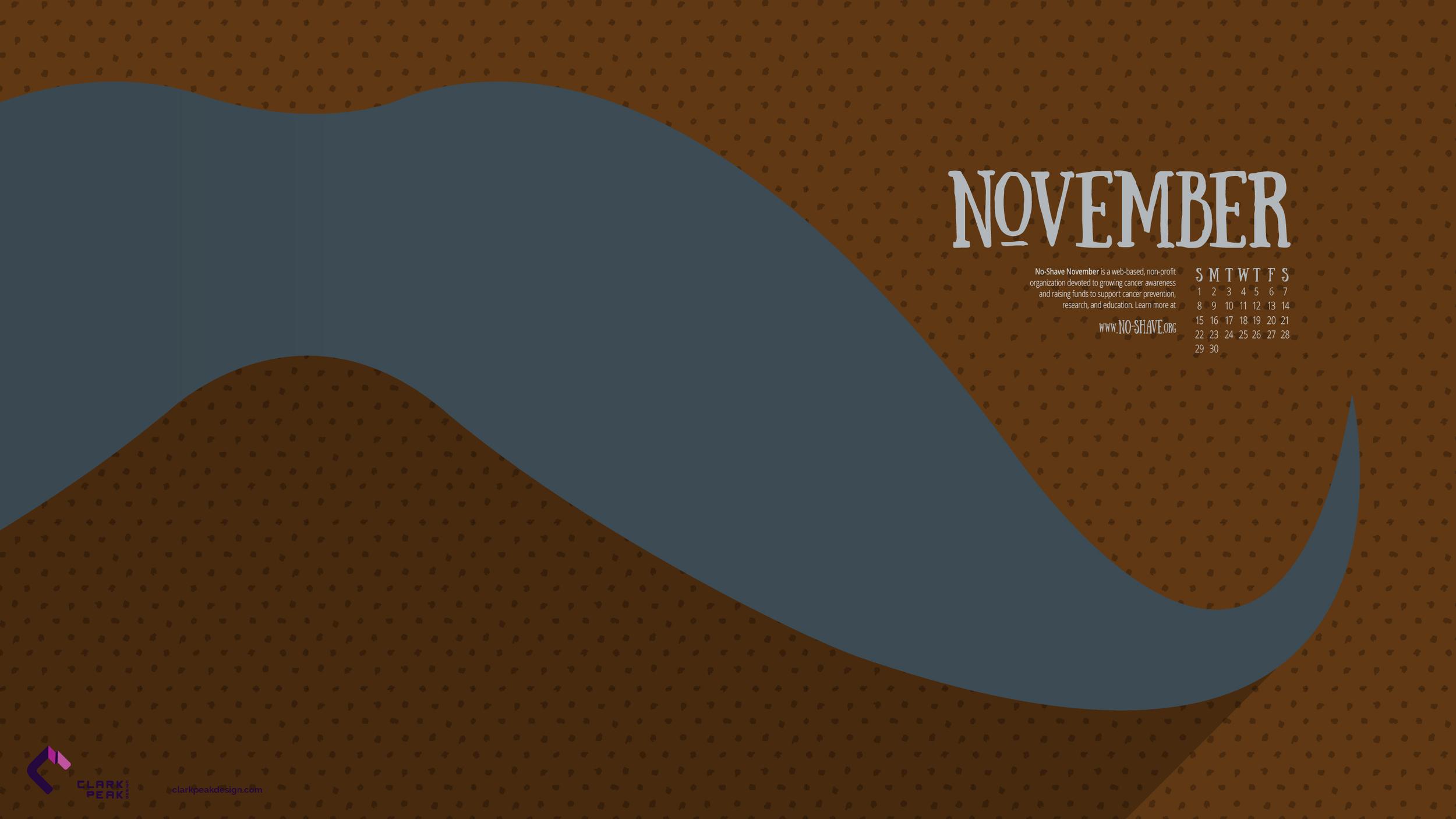 November 2015 Calendar Wallpaper by Clark Peak Design