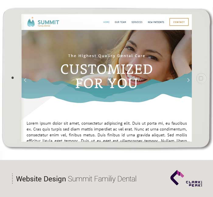 Website design for Summit Family Dental by Clark Peak Design