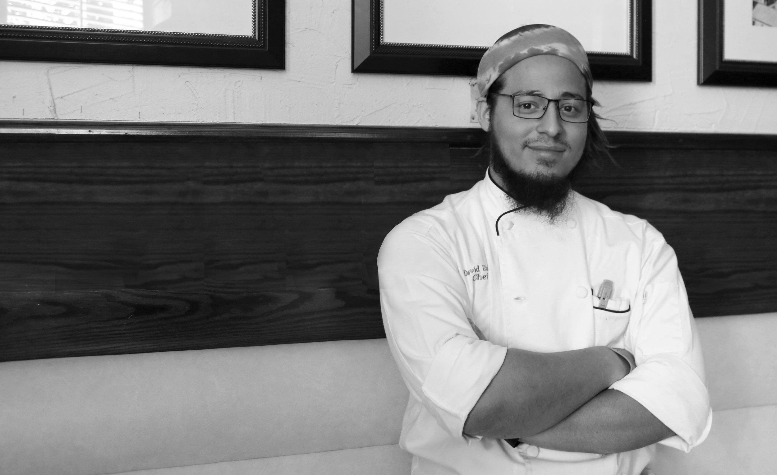 headshot of Bagatelle's executive chef, David Zingg