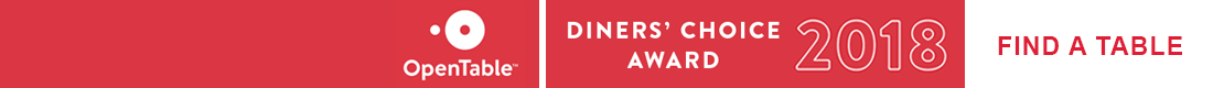 Bagatelle won the 2018 Diners' Choice Award, Open Table, make a reservation today