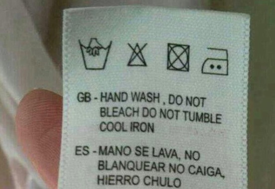 "Twitter: @DiegoJParra   ""Hand is washing, no whitening no falling, iron cute."""