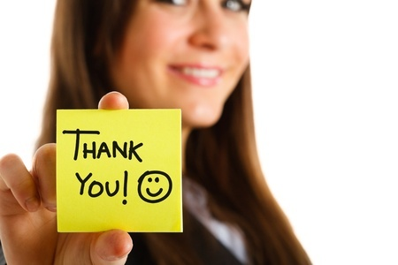 """A simple """"thank you"""" can mean a lot and it costs nothing to give."""