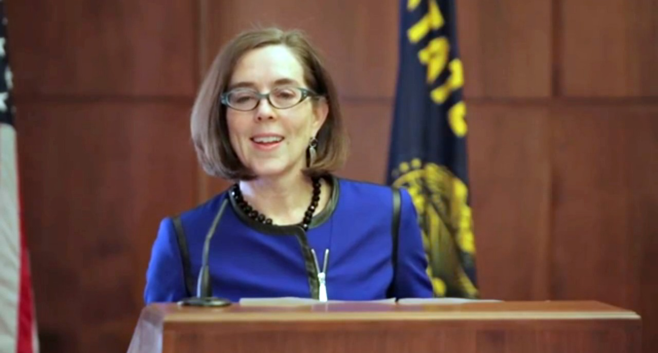 Kate Brown held her first press conference today as Oregon's governor and sent clear signals about her legislative priorities, views on key issues and plan to move into Mahonia Hall.