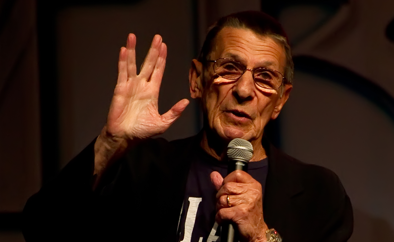 Leonard Nimoy at first resisted being type-cast as Mr. Spock, but he came to realize that he and his iconic role were beloved – and his brand for life.  Photo by Beth Madison, via Wikimedia Commons.