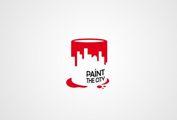 Logo using negative space