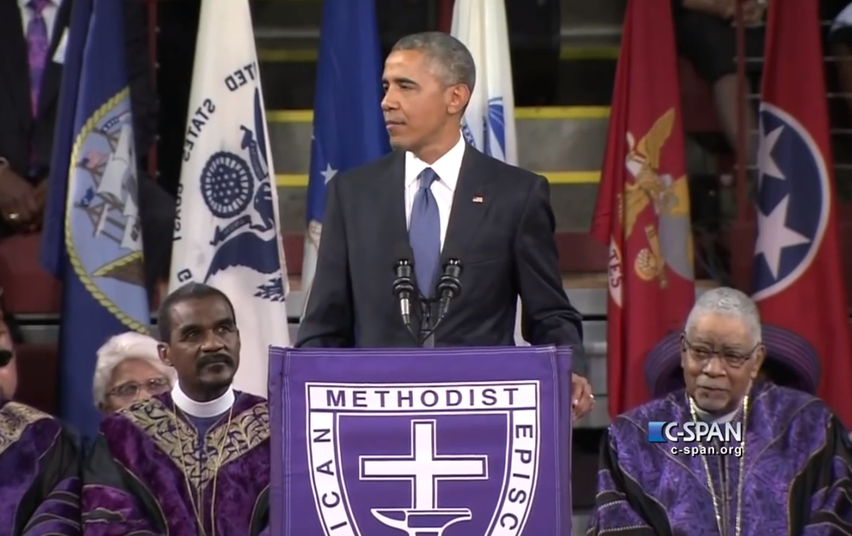 President Obama gave the eulogy for state Senator Clementa Pinckney, in perhaps the most stirring speech of his career.