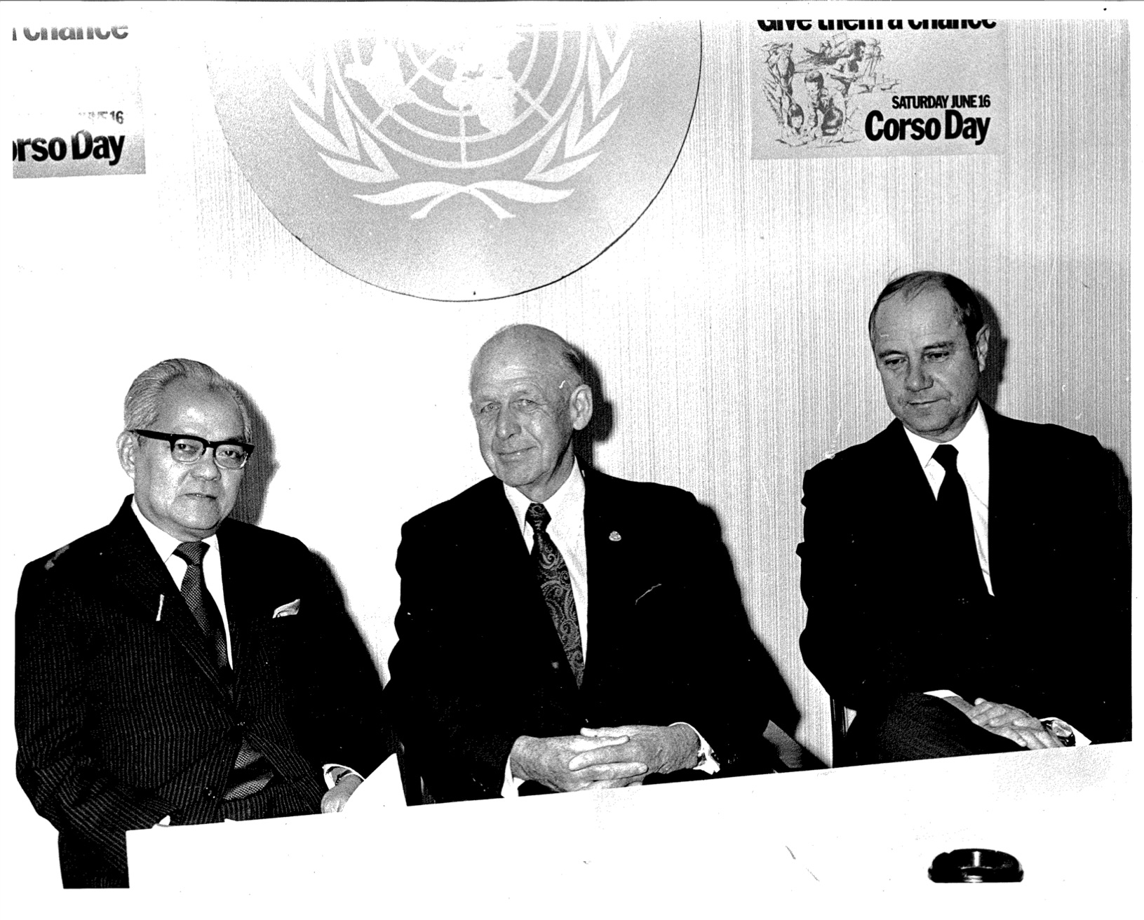 Frank Bauman, right, in his role as Australia's chief diplomat to the United Nations.