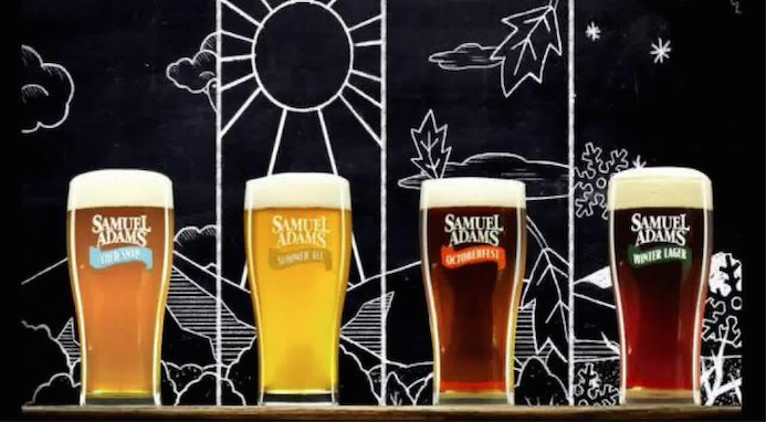 Samuel Adams, known for its wide range of beers, produces a holiday TV ad that offers a perfect visual explanation of seasonal brews.