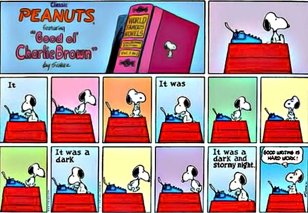 Attack your readers with a powerful opening line that contains your best fact first. Unlike Snoopy in Charles Schulz's classic Peanuts comics, that means identifying your best fact and finding the most engaging way to say it.