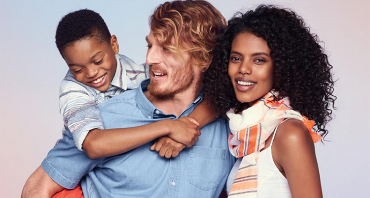 Old Navy tweeted this photo of a multiracial family wearing Old Navy clothes last month, sparking a racist backlash online. The situation highlights the risk involved in socially responsible marketing. Even seemingly harmless ads can ignite a storm of criticism.