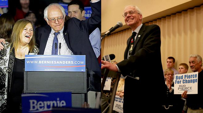 Political outsiders dominated in the Oregon primary as Democrat Bernie Sanders scored a double-digit win over frontrunner Hillary Clinton and newcomer Bud Pierce captured the GOP gubernatorial nomination.