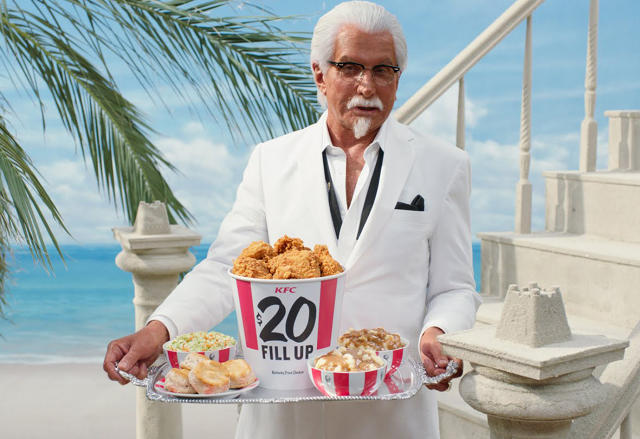 The always bronze George Hamilton is the latest in the carousel of Colonel Sanders characters in a new, buzzy KFC TV ad campaign. Hamilton is the new face for KFC's extra crispy chicken.