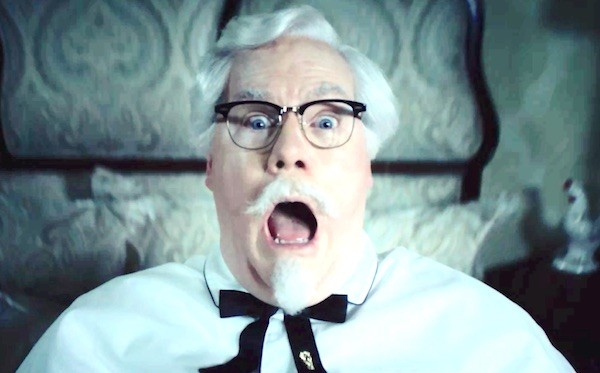 Jim Gaffigan made a bold impression in his round as Colonel Sanders.