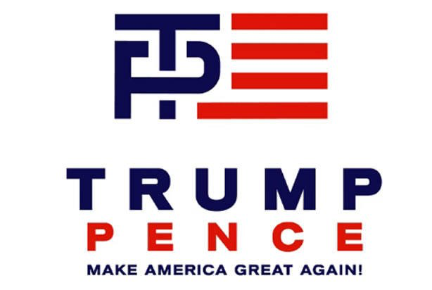 "The Trump campaign apparently rushed to design a logo for Donald Trump Mike Pence as presidential running mates, apparently without considering how the visual of a ""T"" inserted into a ""P"" could be problematic."