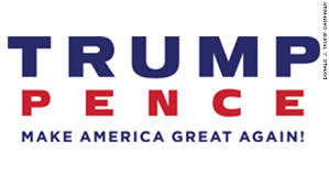 The haste to create the original ill-advised logo led the Trump campaign to hastily revise it to a very basic, uninspiring set of letters and an exclamation point.