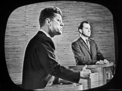 John F. Kennedy and Richard Nixon squared off in the first televised presidential debate in 1960 after insisting reporters ask the questions so they could avoid confronting each other in true debate style.