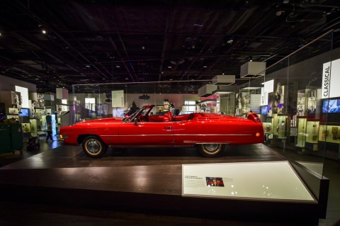 Chuck Berry's shiny red Cadillac is one of many thousands of African American artifacts on display in the new museum.