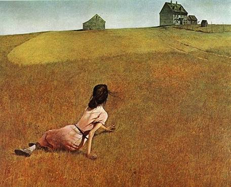 """Andrew Wyeth's """"Christina World"""" shows the visual power of separating two subjects by a nondescript distance of what we call white space."""