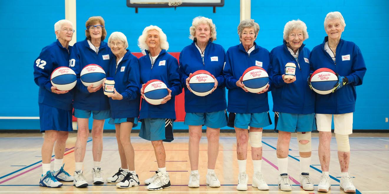 Miracle Whip celebrated its 84-year-old history by sponsoring a women's basketball team consisting of 80+ year old players who grew up with the iconic mayonnaise and embody the brand's message of enduring heritage.