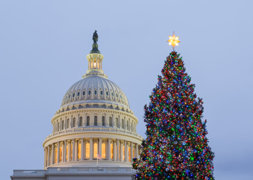The nation's capital is preparing for Christmas, but there isn't much cheer on Capitol Hill as lawmakers narrowly avert a government shutdown, try to unsnarl problems in tax-cut legislation and muddle through sexual misconduct scandals