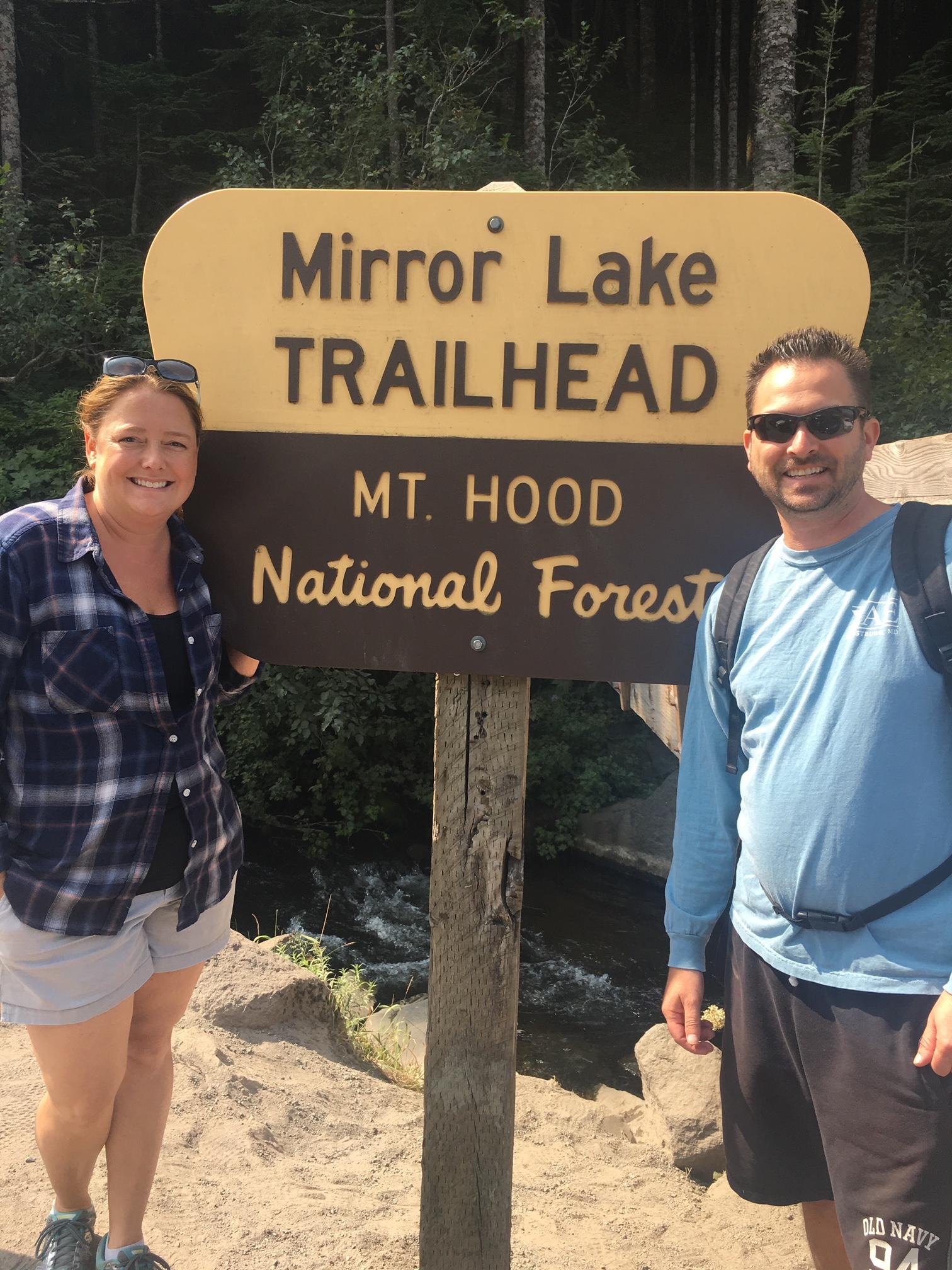 Joel Rubin and his wife Sarah hiking at Mt. Hood