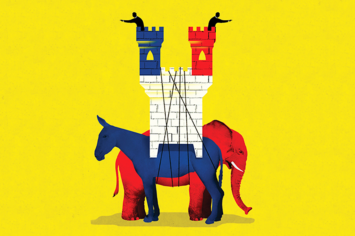 Political polarization in America has reached levels not seen since the Civil War tore the country apart. Because that polarization is unlikely to dissipate any time soon, public affairs managers working on major projects, policy issues or ballot measure campaigns need to take it into account by intensifying engagement efforts with those most directly affected. [Photo Credit: Illustration/Brian Stauffer/USC Dornsife Magazine]