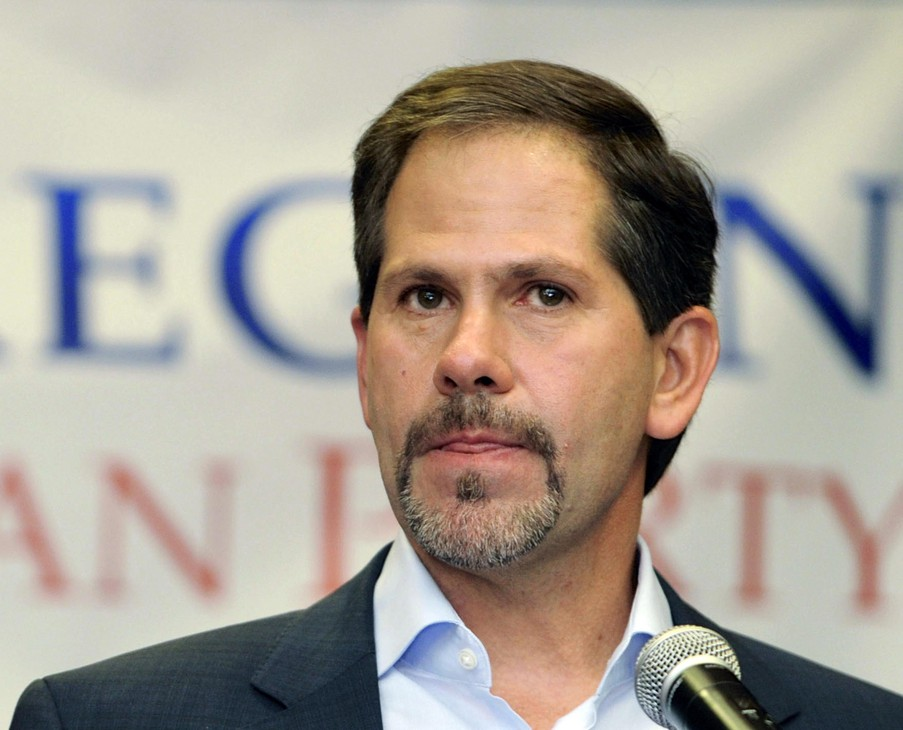 Bend Republican Knute Buehler casts himself as the best GOP hope to unseat Democratic incumbent Governor Kate Brown, but he will have to overcome political conservatives in his own party in Tuesday's Oregon primary election to get the chance to test Brown this fall. [Photo Credit: AP]