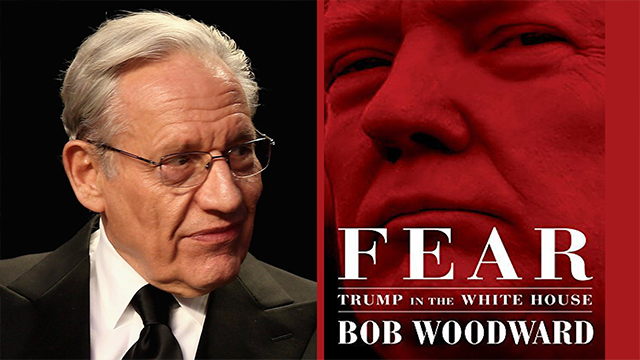 "Pulitzer Prize-winning reporter and author Bob Woodward's latest book – a tell-all about the Trump White House based on 100 ""deep background"" interviews – hit bookshelves today, even though its shrapnel already has been felt in pre-publication excerpts.  https://www.vox.com/policy-and-politics/2018/9/11/17828300/bob-woodward-fear-trump-sources"