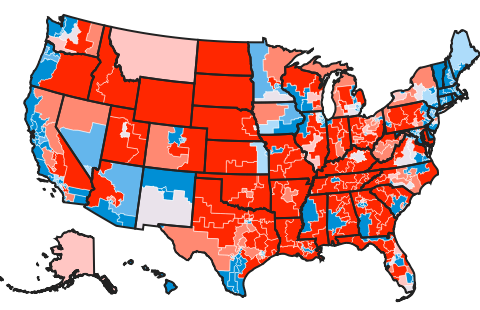 fivethirtyeight.com indicates a high probability of Democrats regaining control of the US House in next Tuesday's midterm election. Three tightly contested House seats in Washington now held by Republicans could punctuate a Democratic blue wave or sustain GOP control.