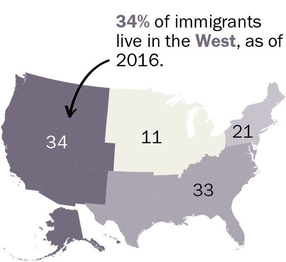 Pew Research Center has developed an informative resource that describes immigrants in America – who they are, how long they have been here, how they are faring and where they live. It's a fascinating set of statistics that shows immigration is a lot more complicated and significant than skirmishes at the US-Mexican border.