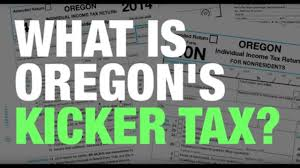 The income tax kicker refund is unique to Oregon and was sold originally as a way to hold down government spending in the good times when higher-than-expected revenue poured into state coffers. Here is an explanation of when a kicker refund is triggered and how it is calculated.  https://youtu.be/c439JJmsipM