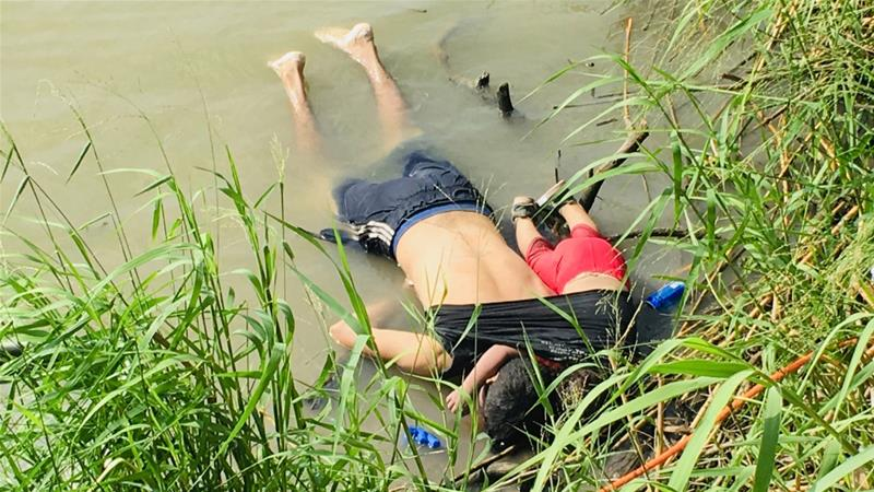 The picture of the drowned bodies of Salvadoran migrant Oscar Alberto Martínez Ramírez and his nearly 2-year-old daughter Valeria lie on the bank of the Rio Grande shocked the nation and accentuated calls for actions to address the humanitarian crisis on the border. (Photo Credit: Julia Le Duc/AP)