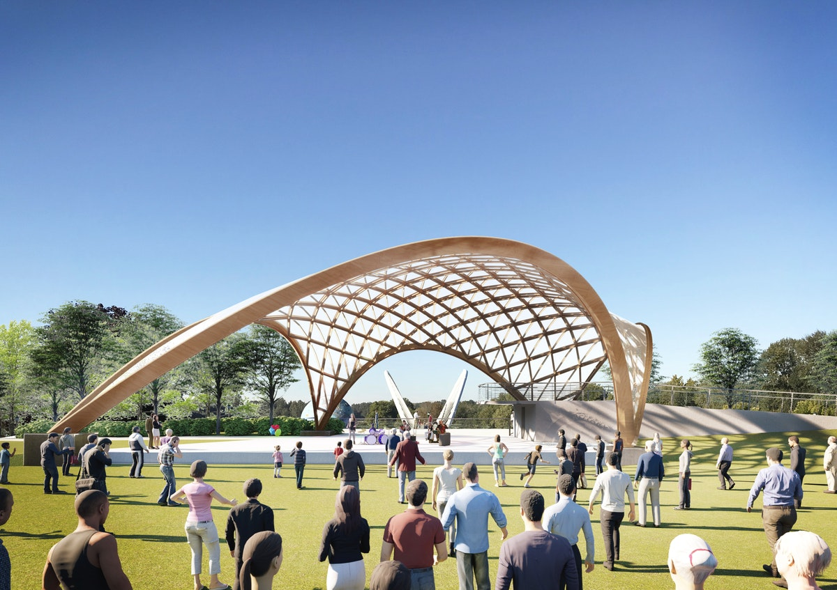 The uniquely designed Gerry Frank/Salem Rotary Amphitheater, which should be completed in the fall of 2020, will become an iconic part of the capital city's riverfront and a major cultural and entertainment venue.