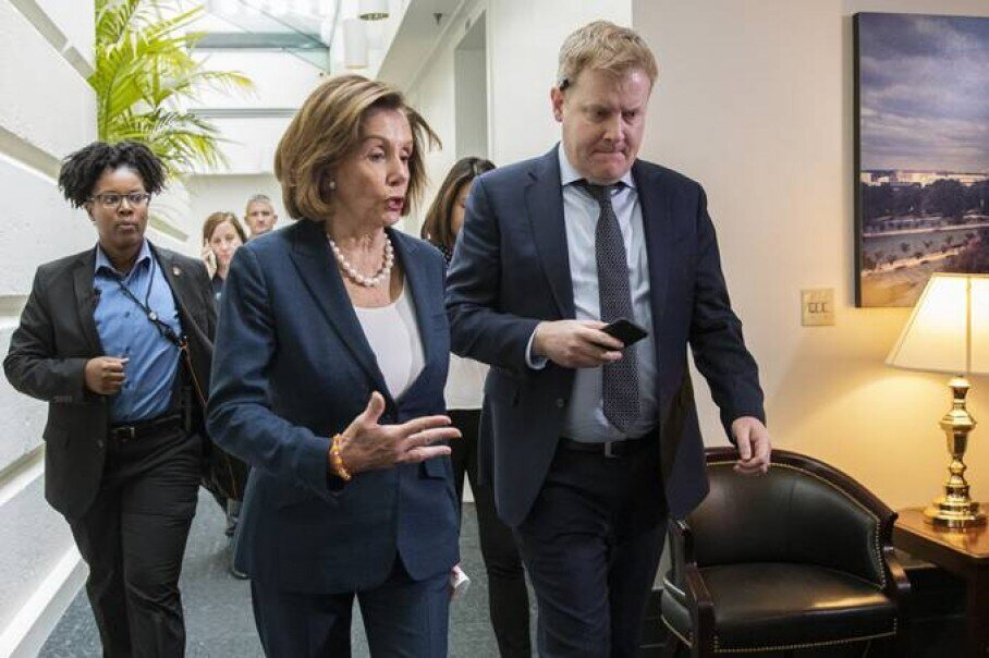 As she oversees an unfolding presidential impeachment inquiry, House Speaker Nancy Pelosi also is shepherding legislation to lower drug prices covered by Medicare. Her bill could receive a House floor vote as early as next week. (Photo Credit: Manuel Balce Ceneta/AP)