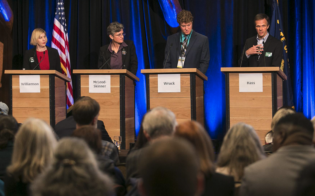 Four Democratic contenders for Oregon Secretary of State debated in Sunriver earlier this month, citing election security, public access to records and campaign finance as central issues. Because the secretary of state sits on the State Land Board and chairs the Oregon Sustainability Board, the use of public lands to address climate change, protect watersheds and generate revenue will take on prominence, too. (Photo Credit: EO Media Group Photo/Ryan Brennecke)