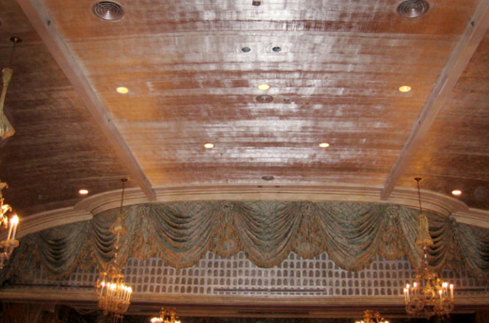 3D METALLIC STRIE ON CANVAS. The Ballroom at the Pierre Hotel, NYC.