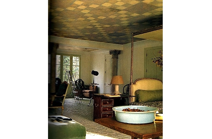 Geometric: Ceiling pattern. Guest house in private residence. Bedford, NY. Designer: Stephen Sills.  Link
