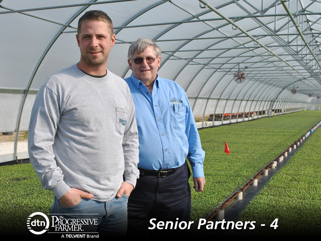 Michael and his father, William Brooks, pictured above.  Photo is from an article published on DTN The Progressive Farmer about  Dusty Lane Farms and land prices .