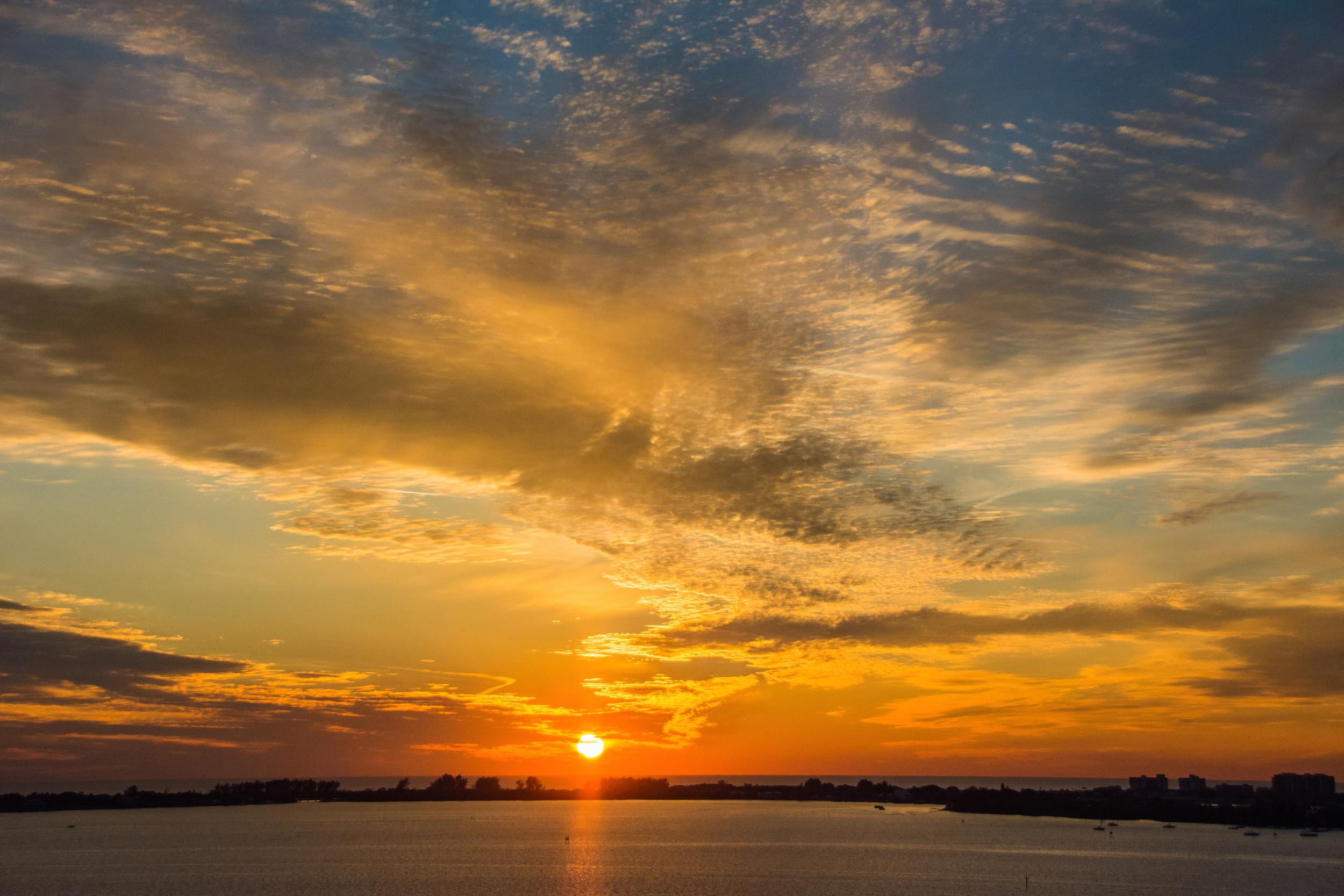 Gold Bronze Sunset - Leslie Brown