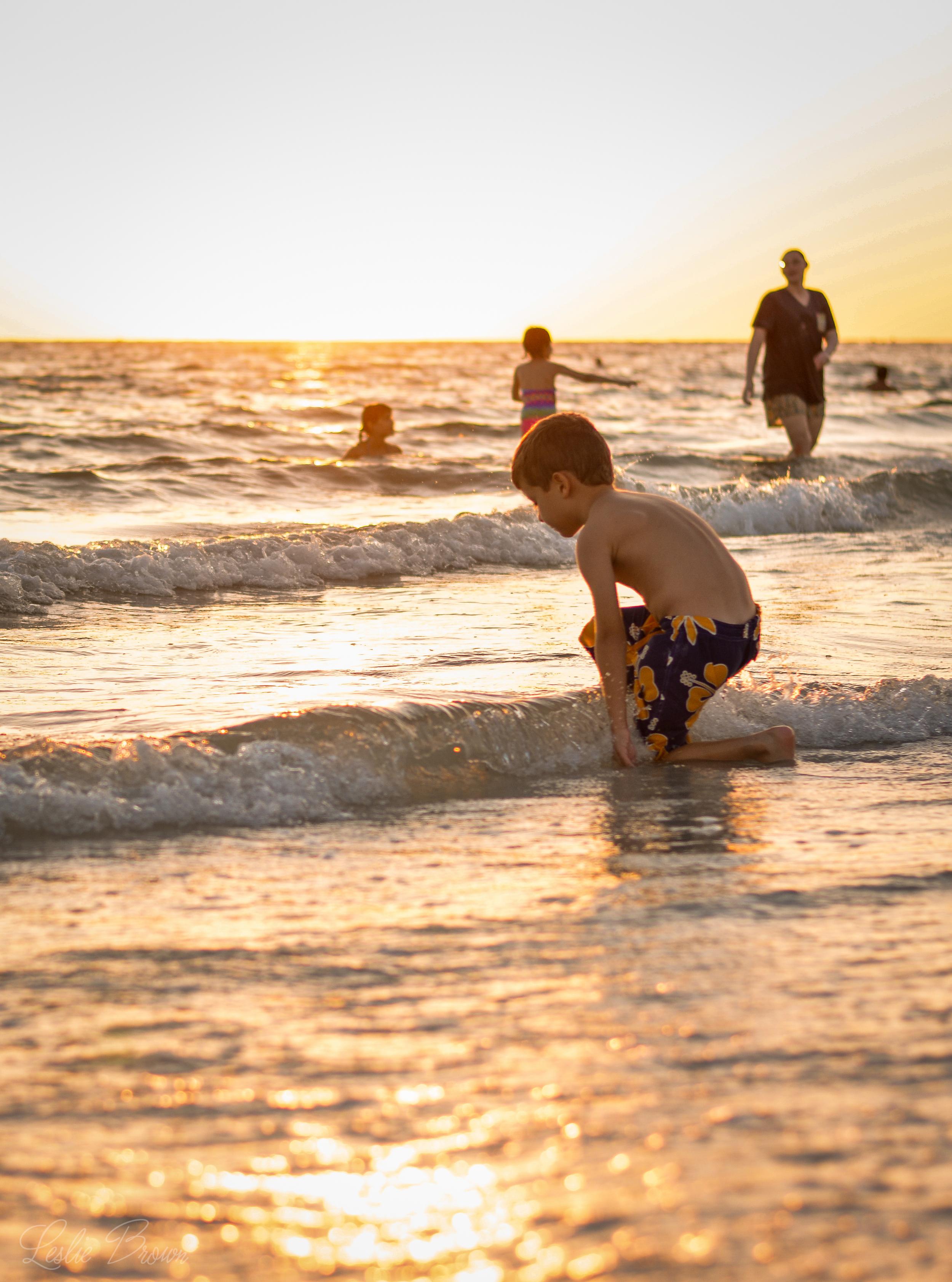 Waves and Children - Leslie Brown