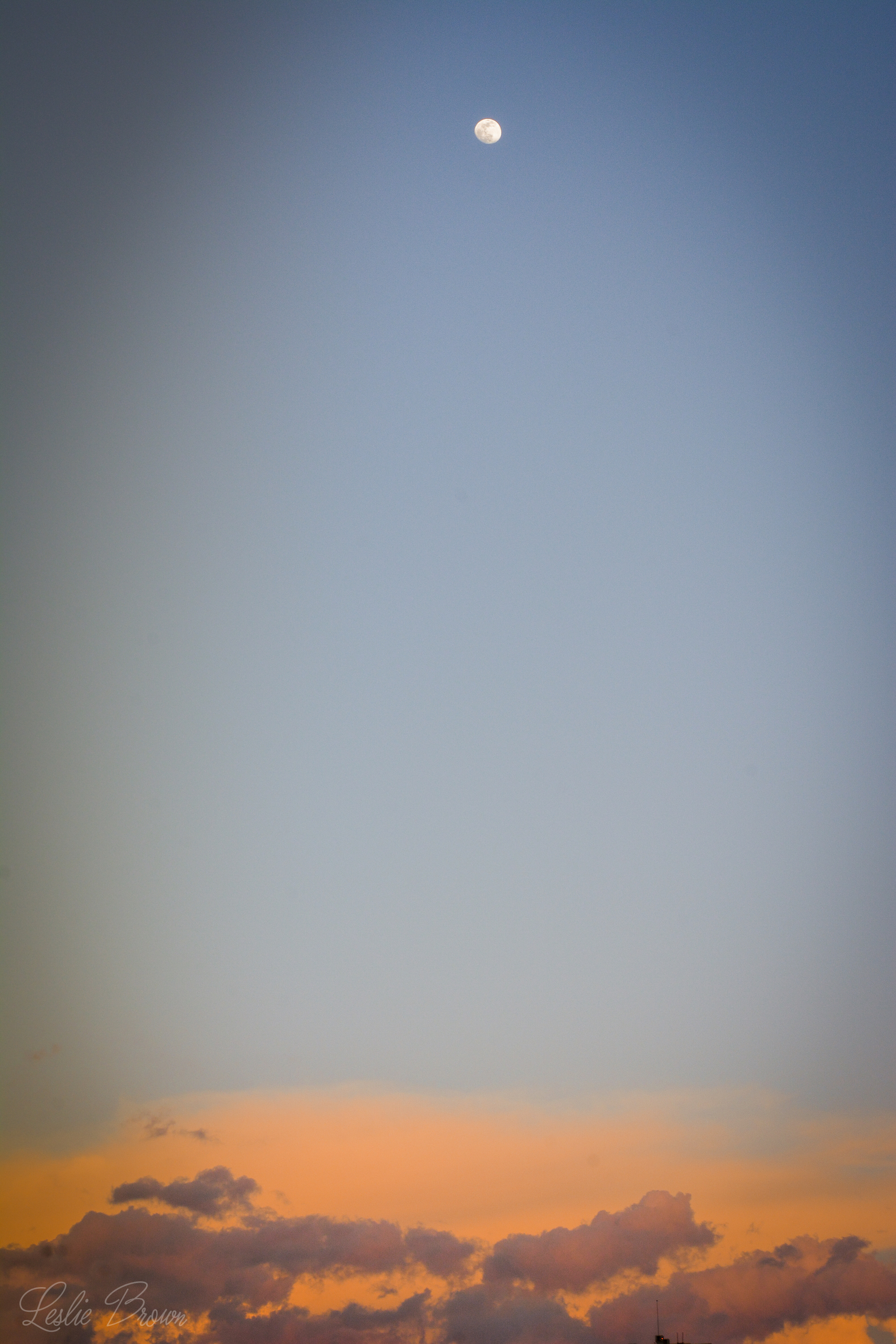 Moon and Clouds - Leslie Brown