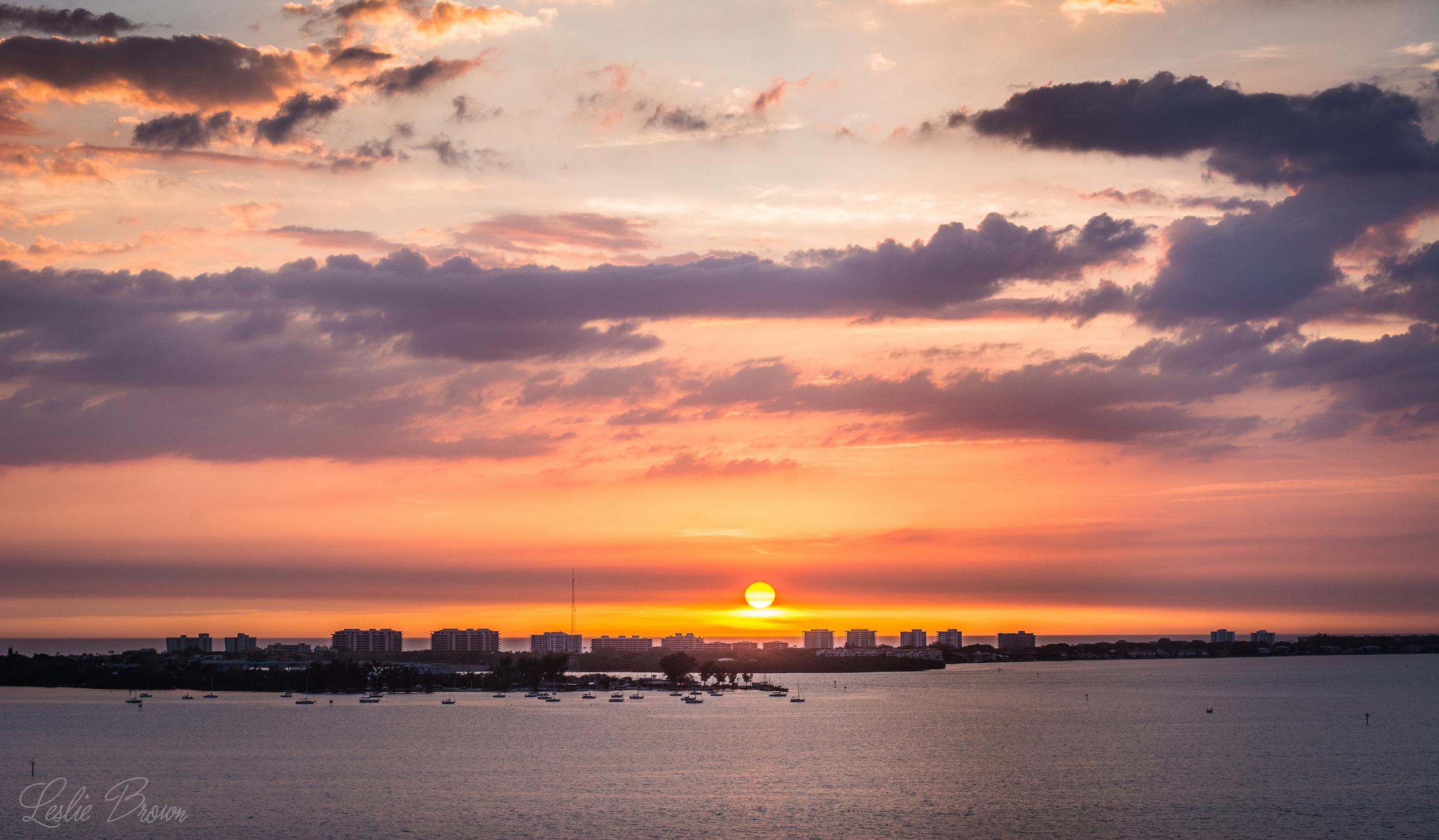 Veiled Sunset - Leslie Brown