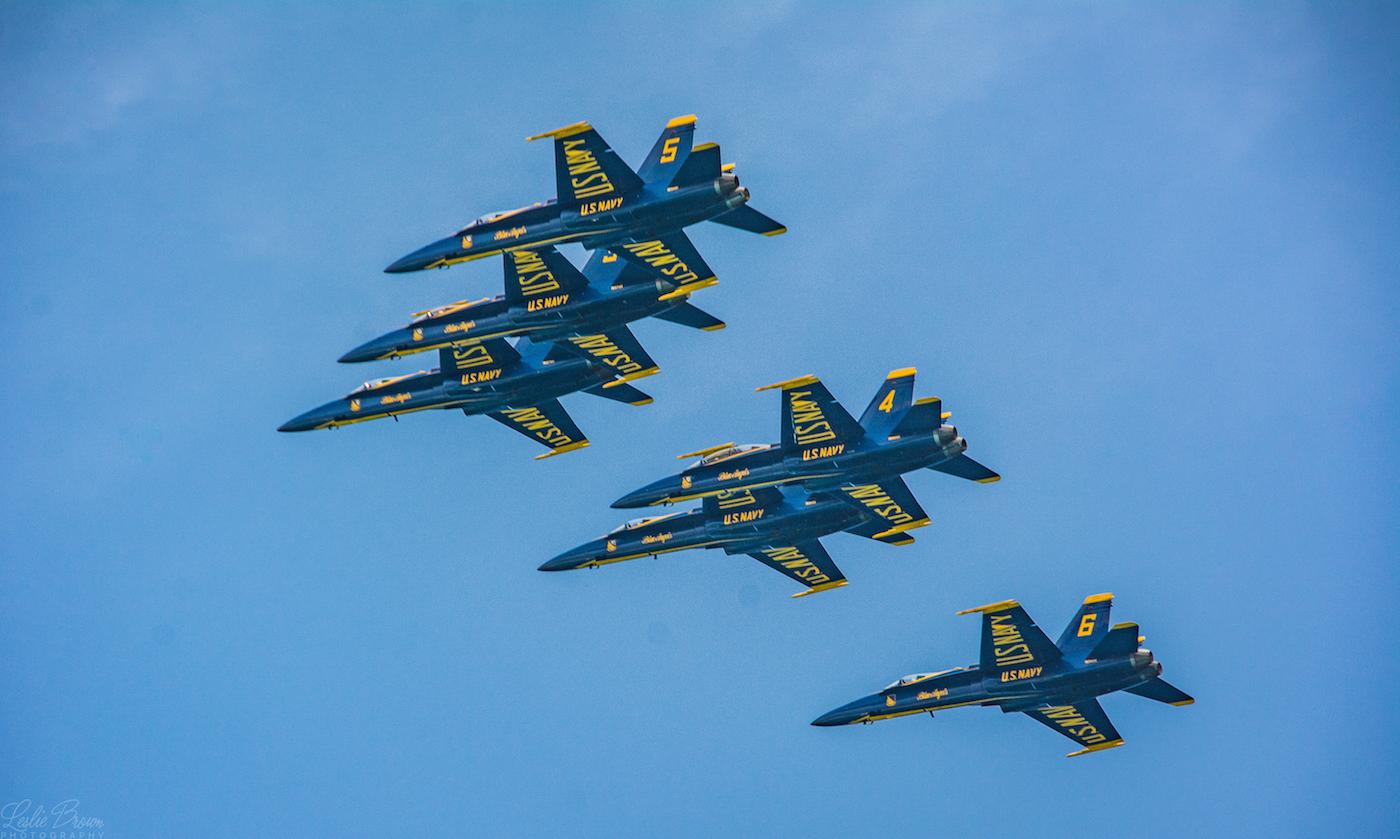Blue Angels 6 Formation - Leslie Brown