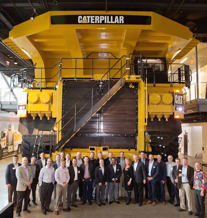 Doug Oberhelman, Chairman and CEO of Caterpillar Inc. and Chair of Business Roundtable welcomed members of the Young Presidents' Organization, including CAP Logistics President Kevin Kersting, to the company's headquarters in Peoria, Illinois.