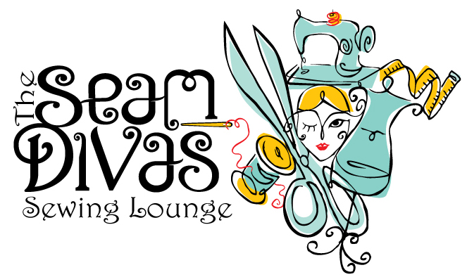 Seam Divas Sewing Lounge Logo