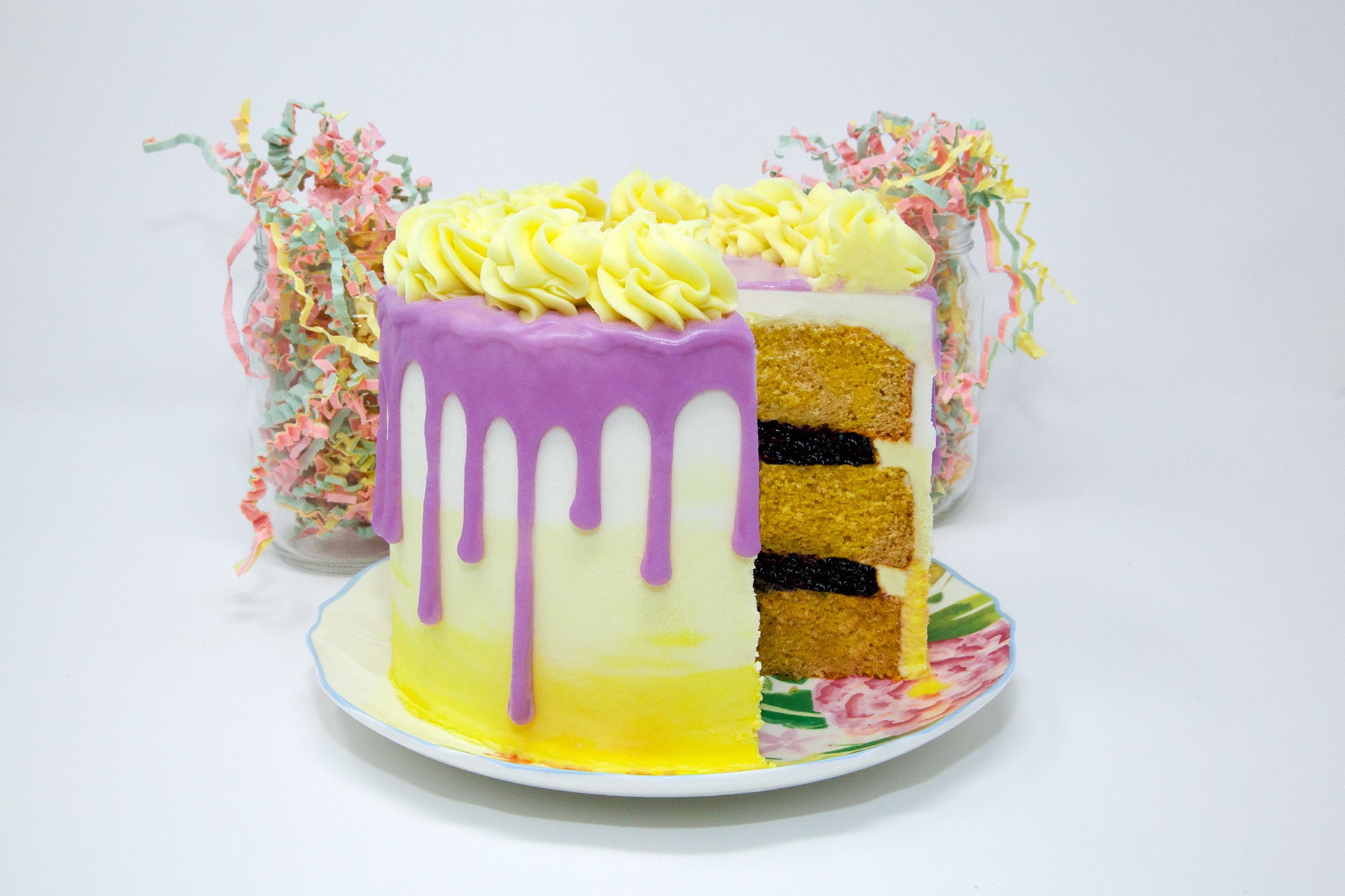 Lemon Blueberry Easter Cake -  Available in 4 sizes.