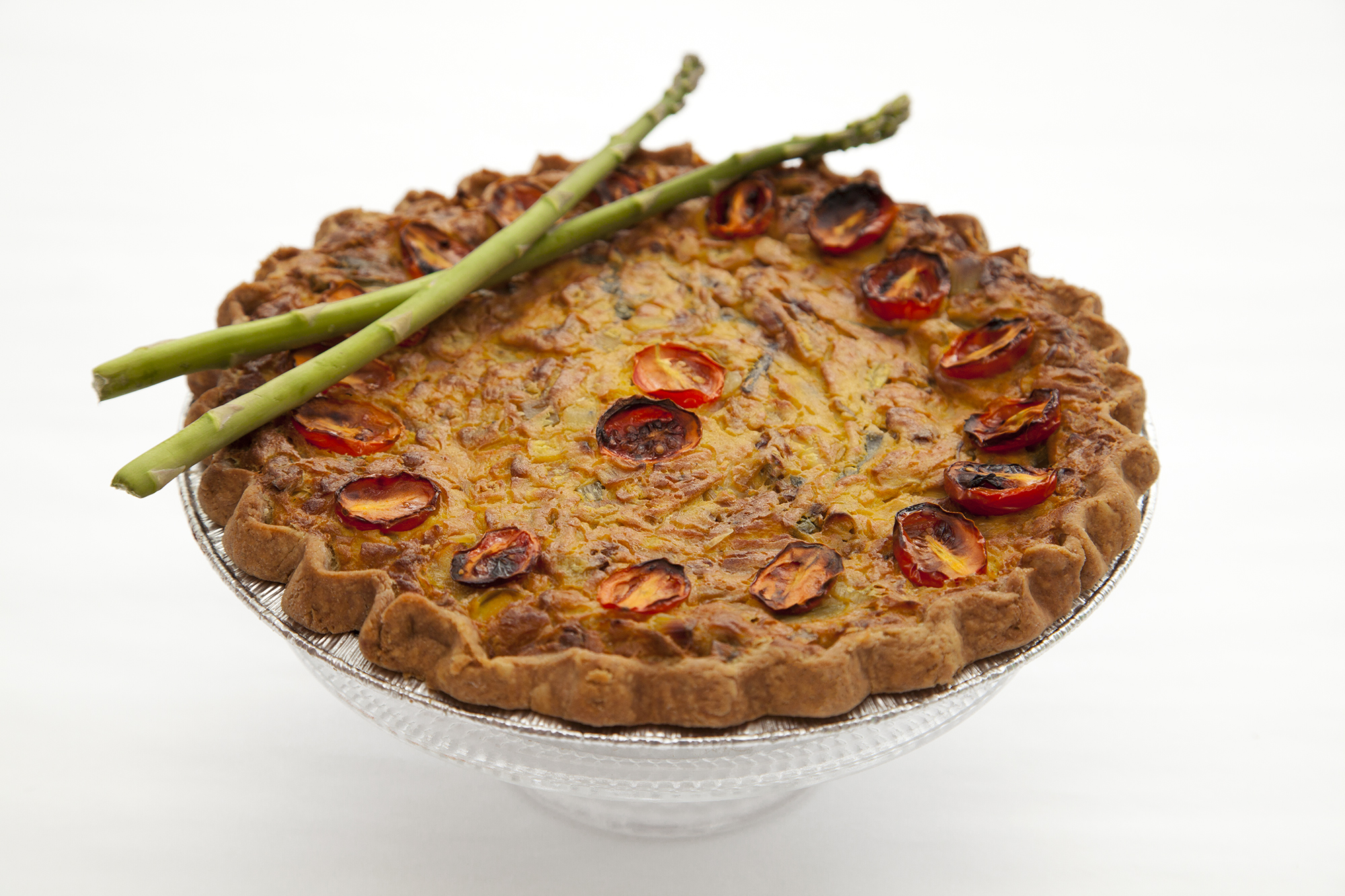 Sundried Tomato and Asparagus Quiche  - Two Sizes